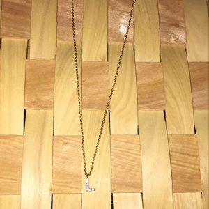 L gold necklace